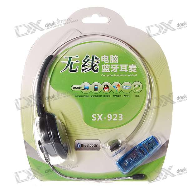 Bluetooth Handsfree Headset for PC/Laptop (6-Hour Talk/120-Hour Standby)