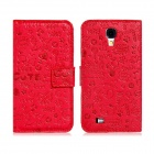 Fairy Style Protective PU Leather Case Cover for Samsung Galaxy S4 i9500 - Red
