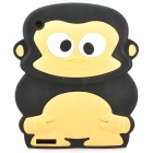 Cute Monkey Style Protective Silicone Back Case for IPAD 2 / 3 / 4 - Black + Beige