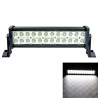 LML-B272 60 Degree Flood Beam 72W 5040lm 6000K 24-LED White Light Car Roof Light - Black (DC 10~30V)