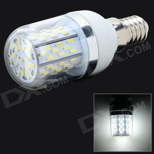 E14 5W 780lm 6500K 78 x SMD 3014 LED White Light Lamp w/ Cover - White + Silver Grey (AC 85~265V) lexing lx r7s 2 5w 410lm 7000k 12 5730 smd white light project lamp beige silver ac 85 265v
