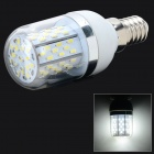 E14 5W 780lm 6500K 78 x SMD 3014 LED White Light Lamp w/ Cover - White + Silver Grey (AC 85~265V)