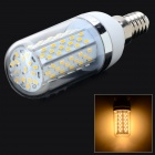 E14 7W 1100lm 3500K 120 x SMD 3014 LED Warm White Light Lamp - White + Silver Grey (AC 85~265V)