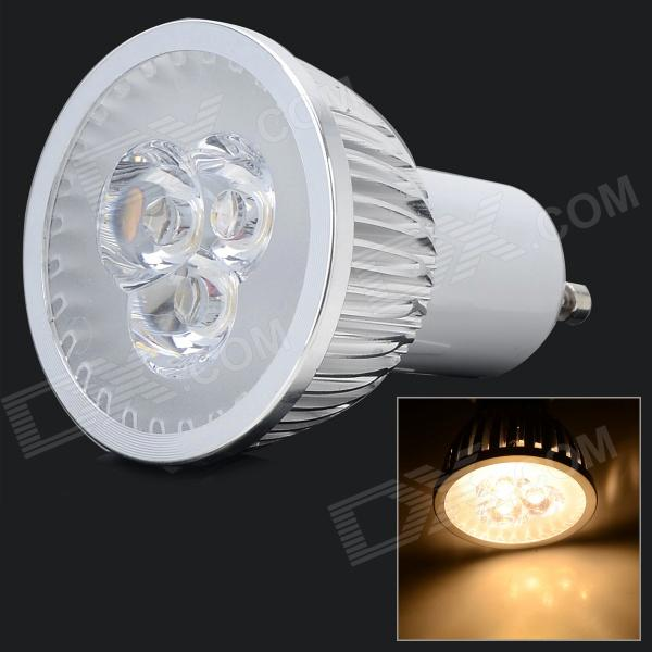 LSON GU10 6W 180lm 3200K 3-LED Warm White Light Spotlight - Plata (AC 85 ~ 265V)