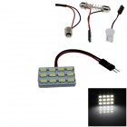 T10 / BA9S / Festoon 2.4W 240lm 12 x SMD 5630 LED White Light Car Reading / Panel Light - (12V)