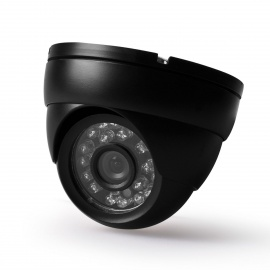 "Digital 420TVL 1/4"" CCD Waterproof Video Surveillance Security Dome Camera w/ 24-IR LED - Black"