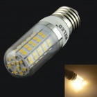 HZLED E27 7W 770lm 3000K 80 x SMD 2835 LED Warm White Light Lamp Bulb - White + Silver (AC 85~265V)