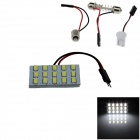 T10 / BA9S / girlander 3W 300lm 15 x SMD 5630 LED-hvitt lys bil lesing lys / Panel Light - (12 v)