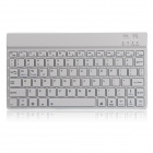 B.O.W 78-Key Bluetooth V3.0 Keyboard for Android / iOS / Windows Tablets/Smartphones - Silver+White