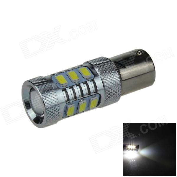 1156 / BA15S / P21W 10W 400lm 12 x SMD 5630 LED + 1 LED White Light Car feux de recul - (12 ~ 24V)