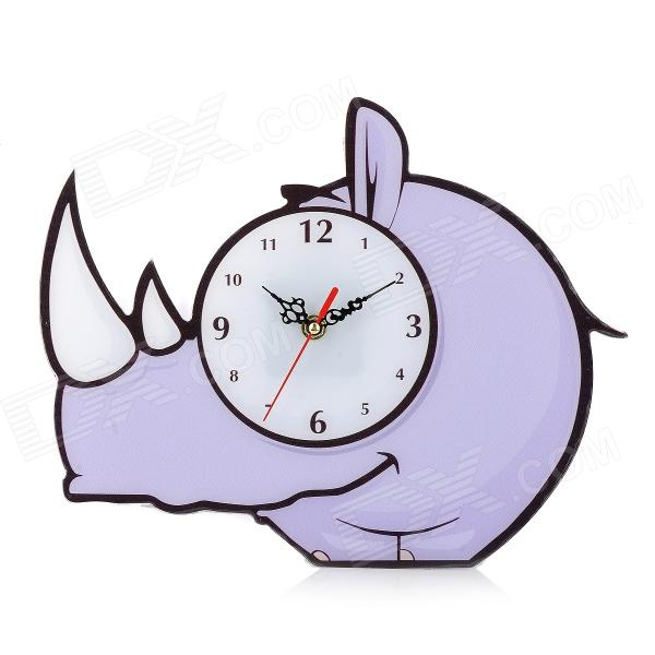 KT003 Rhinoceros Style Acrylic Wall Clock - Sky Blue (1 x AA) creative coffee time wall mounted clock blue 1 x aa