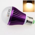 ZHISHUNJIA E27 9W 680lm 3000K 18 x SMD 5630 LED Warm White Light Bulb - White + Purple (85~265V)