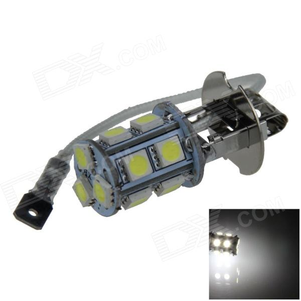 H3 2.5W 250lm 13 x SMD 5050 LED White Light Car Foglight / Tail Light - (12V) h1 4w 220lm 68 smd 1210 led warm white light car foglight headlamp tail light 12v