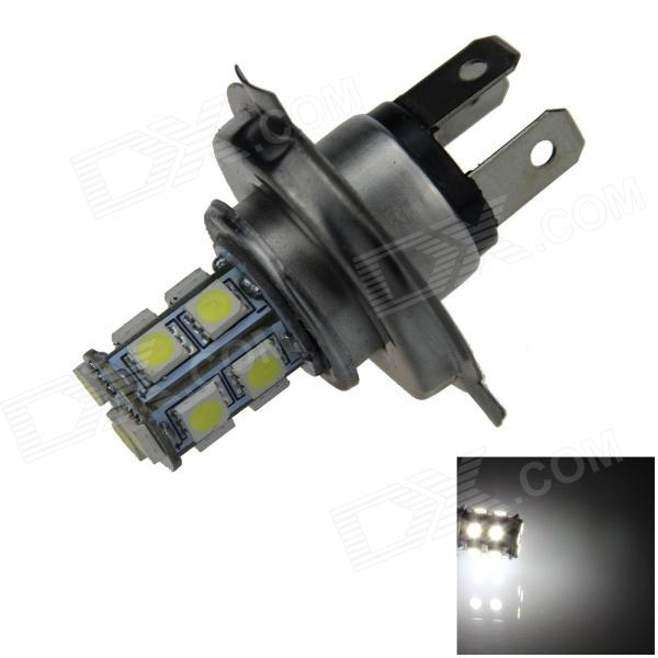 H4 2.5W 250lm 13 x SMD 5050 LED White Light Car Foglight / Tail Light - (12V) h1 4w 220lm 68 smd 1210 led warm white light car foglight headlamp tail light 12v
