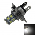 H4 2.5W 250lm 13 x SMD 5050 LED White Light Car Foglight / Tail Light - (12V)