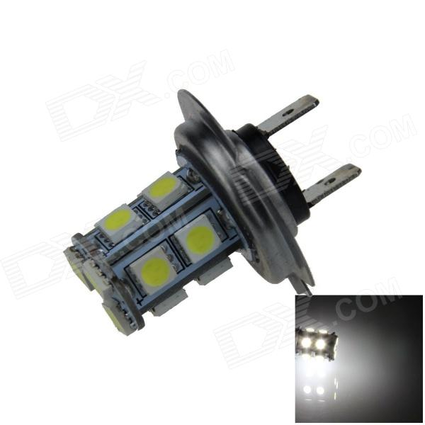 H7 2.5W 250lm 13 x SMD 5050 LED White Light Car Foglight / Tail Light - (12V) h1 4w 220lm 68 smd 1210 led warm white light car foglight headlamp tail light 12v