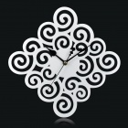 MB006 Auspicious Clouds Style Acrylic Wall Clock - White (1 x AA)