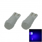 T10 / 194 / 168 Ceramic 1W 80lm LED Blue Soft Light Car Side Light / Reading lamp - (12V / 2 PCS)