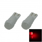 T10 / 194 / 168 Ceramic 1W 80lm LED Red Soft Light Car Side Light / Reading lamp - (12V / 2 PCS)