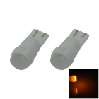 T10 / 194/168 Ceramic 1W 80lm LED amarelo Soft Light Car Light Side / Lâmpada de leitura - (12V / 2 PCS)