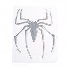 Creative Spider Pattern Car Decoration Sticker - Silver