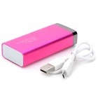 "S-What Universal ""6800mAh"" Rechargeable Li-ion Portable Power Bank - Deep Pink + Silver"