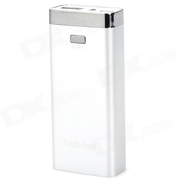 S-What Universal 6800mAh Rechargeable Li-ion Portable Power Bank - Silver s what universal portable 5v 2000mah li ion battery power bank white