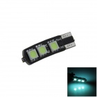 T10 / 194 / 168 / W5W 1.2W 120lm 6 x SMD 5050 LED Ice Blue Car Clearance lamp / Side Light - (12V)