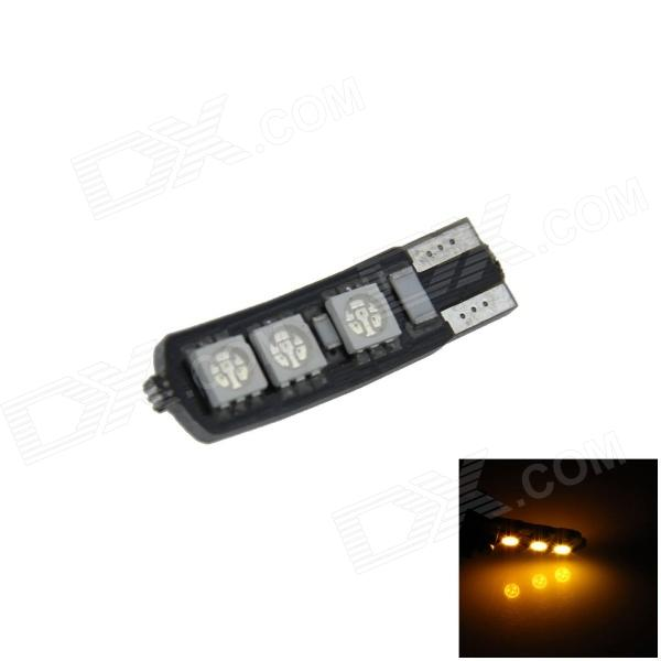 T10 / 194/168 / W5W 1.2W 120lm 6 x 5050 SMD LED Yellow Car lâmpada Clearance / Side Light - (12V)