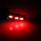 T10 / 194 / 168 / W5W 1.2W 120lm 6 x SMD 5050 LED Red Car Clearance lamp / Side Light - (12V)