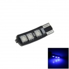 T10 / 194 / 168 / W5W 1.2W 120lm 6 x SMD 5050 LED Blue Car Clearance lamp / Side Light - (12V)