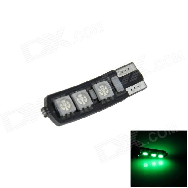 T10 / 194/168 / W5W 1.2W 120lm 6 x 5050 SMD LED lámpara de Liquidación Green Car / Side Light - (12V)
