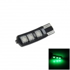 T10 / 194 / 168 / W5W 1.2W 120lm 6 x SMD 5050 LED Green Car Clearance lamp / Side Light - (12V)