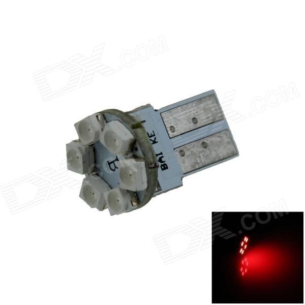 T10 / 159 / 280 / W5W 0.3W 50lm 6 x SMD 1210LED Red PCB Car Instrument lamp / Side Light - (12V)
