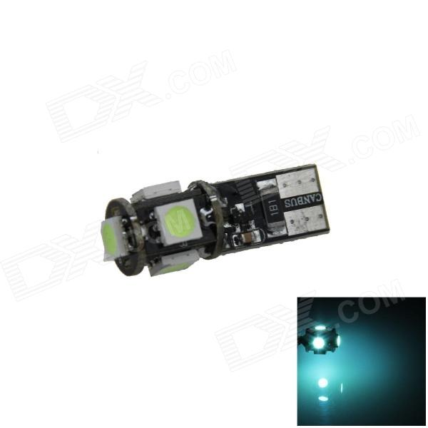 T10 1W 100lm 5-SMD 5050 LED Ice Blue Canbus Error Free Car Side Light / Clearance lamp - (12V)