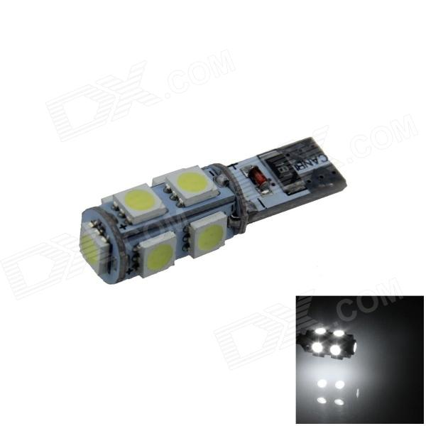 T10 1.8W 180lm 9-SMD 5050 LED White Canbus Error Free Car Side Light / Clearance lamp - (12V) 4x canbus error free t10 194 168 w5w 5050 led 6 smd white side wedge light bulb