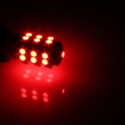 T10 / 447 / W5W 1.3W 120lm 25-SMD 3528 LED Red Car Side Light / Instrument / Reading lamp - (12V)