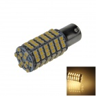 1156 / BA15S 6W 600lm 120 x SMD 3528 LED Warm White Car Steering Light / Tail / Backup Lamp - (12V)