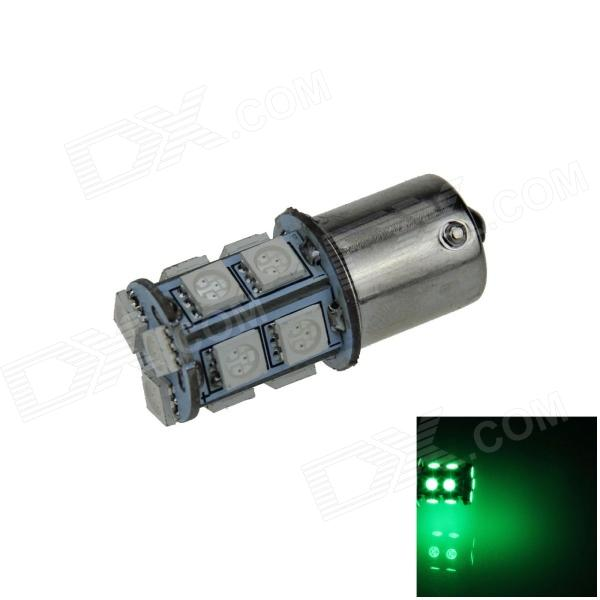 1156 / BA15S 3W 200lm 13 x SMD 5050 LED Green Car Signal Light / Steering / Backup Lamp - (12V)
