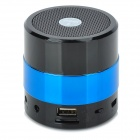 SDY001 3W Bluetooth V2.1 Speaker w/ Mini USB / USB 2.0 / 3.5mm / FM / TF - Black + Light Blue