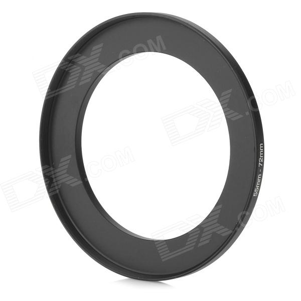 55mm~72mm Step Up Ring Filter Adapter - Black