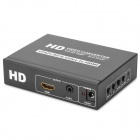 YPbPr + CVBS + S-video to HDMI Video Converter - Black (100~240V)