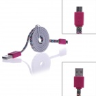 Wave Pattern Micro USB Male to USB 2.0 Male Data Sync / Charging Cable for Samsung / Sony