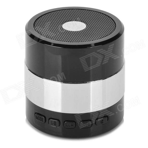 SDY001 3W Bluetooth V2.1 Speaker w/ Mini USB / USB 2.0 / 3.5mm / FM / TF - Black + Silver mini portable bluetooth v2 0 mp3 player speaker w mini usb fm tf led green transparent