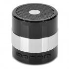 SDY001 3W Bluetooth V2.1 Speaker w/ Mini USB / USB 2.0 / 3.5mm / FM / TF - Black + Silver