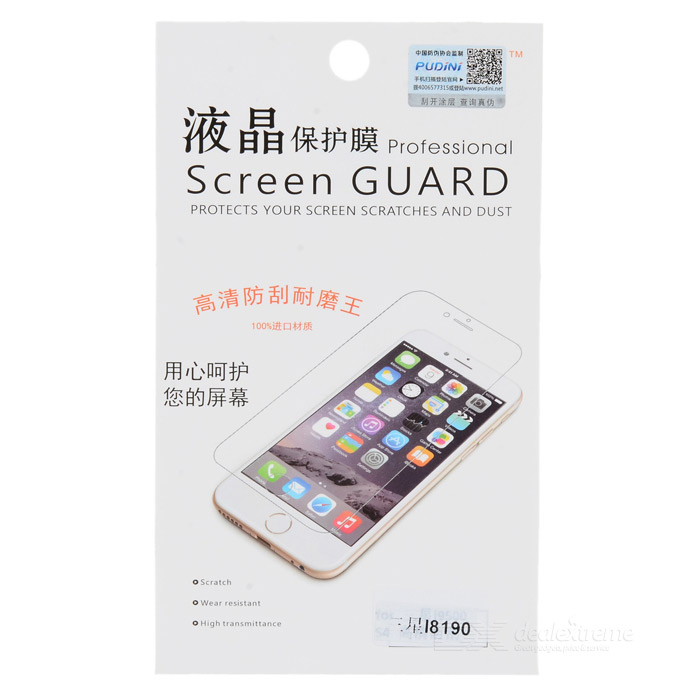 Pudini Protective Screen Protector Guard Film for Samsung Galaxy S3 Mini i8190 pudini protective 0 4mm tempered glass screen protector guard film for samsung galaxy s4 i9500
