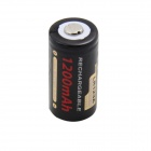 "PD-01 Rechargeable 3V ""1200mAh"" 16340 / LR123A Li-ion Battery - Black"