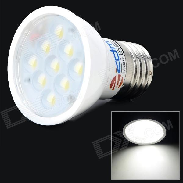 ZDM E27 4W 300lm 7000K 9 x SMD 2835 LED White Light Spotlight - White + Silver (AC 85~265V) lexing lx r7s 2 5w 410lm 7000k 12 5730 smd white light project lamp beige silver ac 85 265v