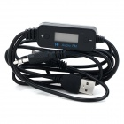 Universal 3.5mm Jack Wired FM Transmitter for Car - Black