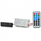 LSON Bluetooth V3.0 + EDR MP3 Decoding Board w/ USB / SD / FM w/ Remote Control - Black + White